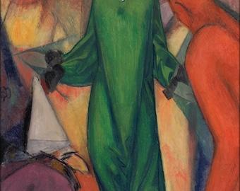 16x24 Poster; Albert Bloch The Green Domino