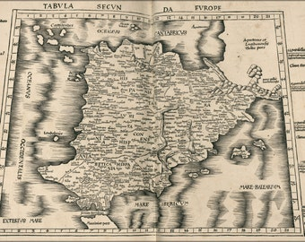 16x24 Poster; Ptolemy Map Of Spain 2Nd Century