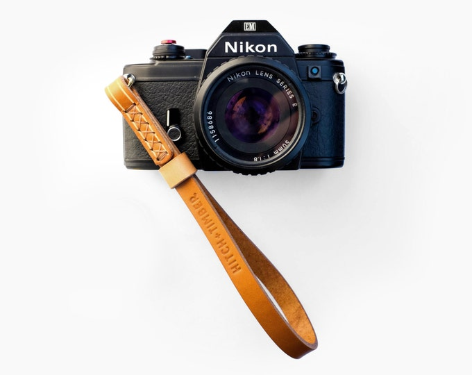 Leather Camera Wrist Strap  ~ Tan