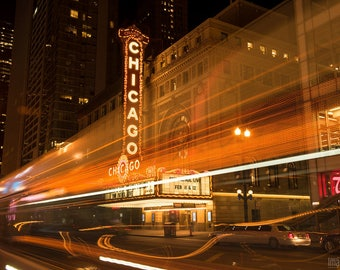 Chicago Theater by Night