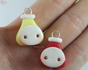 Ketchup & Mustard - Polymer Clay Charms, Polymer Clay Jewelry