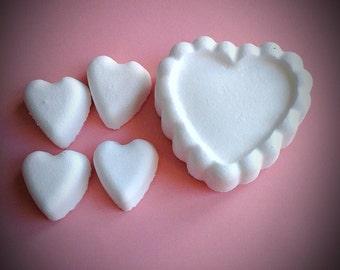 Bag of Heart Shaped Bath Bombs