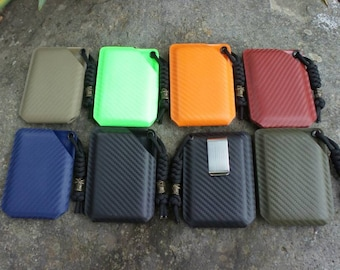 Carbon fiber Kydex wallet- 7 colors available-free shipping