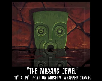 The Missing Jewel 11 x 14 Gallery Wrapped Canvas Print