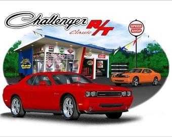 Dodge Challenger R/T Red Custom T-shirt