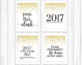 New Years Printable   Happy New Year   New Year Print   New Years Party   2017 Printable   New Years Eve Party   New Year's Printable   NYE