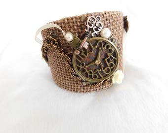 """Unique Brown """"Timepiece"""" Bracelet"""
