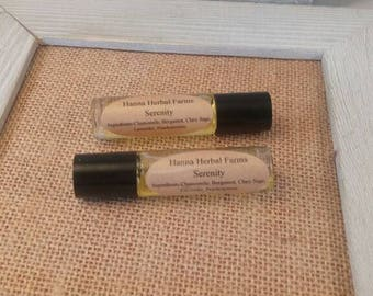 Chamomile Lavender Perfume Oil - Calming Essential Oils -  Chamomile, Bergamot, Clary Sage, Lavender, Frankincense Essential oils