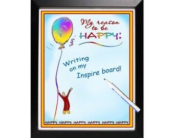 Inspire Erase Board - Happy