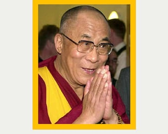Dalai Lama Decal - Buddhist Sticker - Buddha Decal - Tibet  Decal - Peace Decal - Spiritual Sticker - Laptop Sticker - Car decal - S183