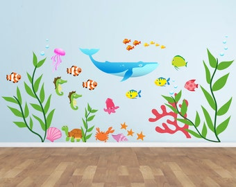 Underwater Wall Decal - Under The Sea Decal - Underwater Wall Sticker - Wall Decal