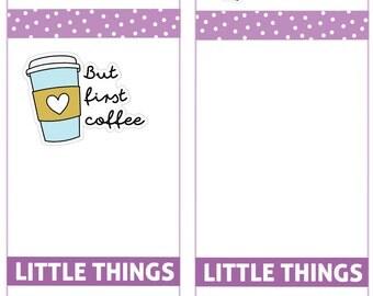 But first coffee Planner Stickers, Coffee Stickers, perfect for Planners, Erin Condren, Plum Paper, Happy Planner, Filofax, Kikki.k...