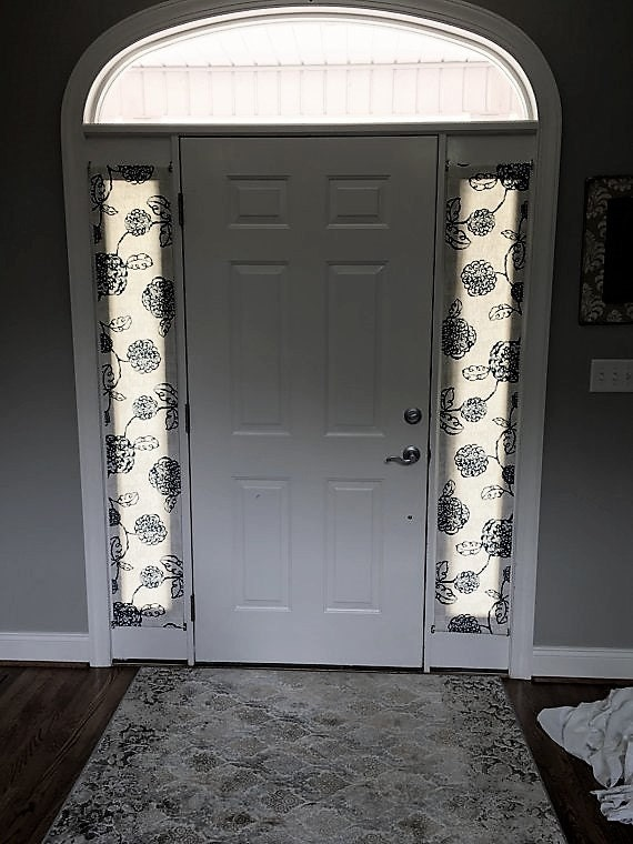 Foyer Door Curtains : Items similar to door panels custom foyer rod pocket