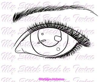 Digital stamp colouring image - Eye's + Bonus. jpeg / png