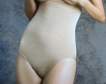 High Waist Panty Seamless Body Shaping Brief Waist Control Elastic Seamless Girdle