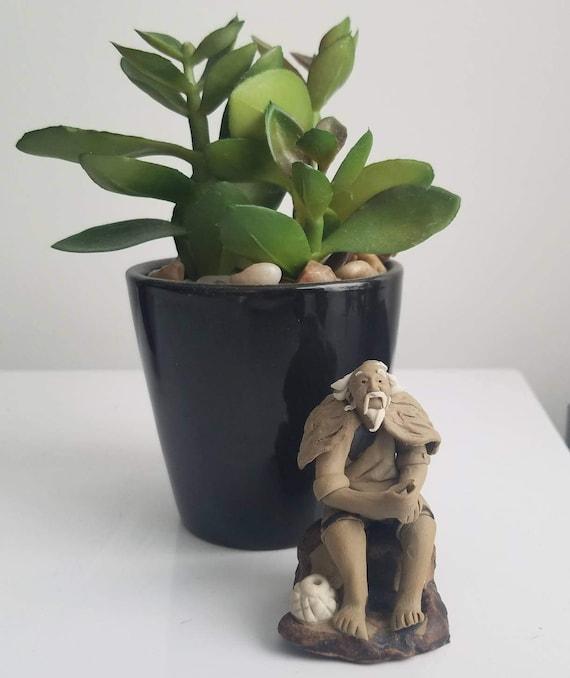zen garden mudmen mudman shiwan miniature figurines bonsai, Garden idea
