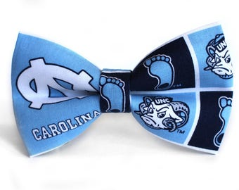 North Carolina Tarheels  | College Bow Tie | Sports Bow Tie | College Team | Kid Basketball Bow Tie | Coach Gift | Dog Bow Tie
