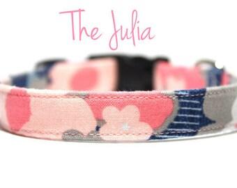 Pink Floral Dog Collars, Floral Dog Collars, Girl Dog Collars, Girl Dog Collars, Pink Dog Collars, Pink Collars, Fabric Dog Collars