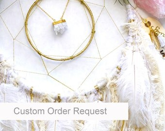 "Custom Order Your 12"" Dream catcher - handmade unique boho decor"