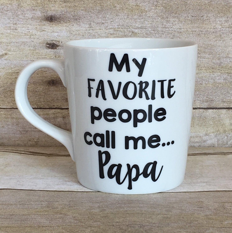 Personalized mugs cheap uk - My Favorite People Call Me Papa Mug Personalized Mug With Any Name Father S Day