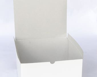 "Large Gift Boxes, White Boxes, Bridesmaid Gift Boxes, Paper Boxes, Wedding Boxes, Christmas, Favor Boxes, 4/pack 10""x10""x6"" NEW"