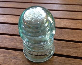 Antique Aqua Green Glass Telegraph Insulator