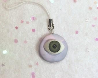 Eyeball Phone Charm