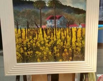Mustard Flowers/ Bonny Nuzzo / bonnyart/ BONNYART/Art of Bonny Rochester/Farm house/vineyard/