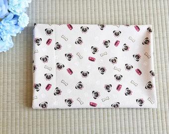 cotton french bulldog fabric 1/2 yard