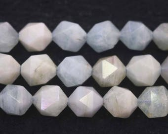 Faceted Aquamarine Nugget Beads, Natural Aquamarine Faceted Nugget Beads,6mm 8 mm 10mm 12mm Aquamarine beads, 15 inch strands