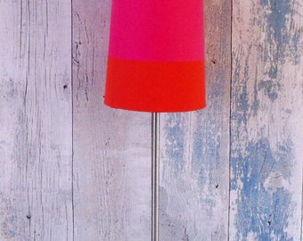 Modern vintage table lamp, Nordic design  lamp, pink and orange shade lamp, fabric and stainless steel table desk lamp, bedroom lamp