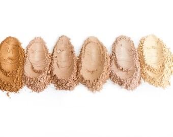 Mineral Foundation Loose Powder, Natural powder, 6 shades, Vegan