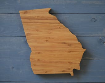 Georgia, Georgia Decor, Georgia State Cutting Board, Georgia State, Georgia State Shape, Home Decor, Kitchen Decor
