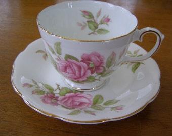 Vintage Royal Stuart England  Bone China Tea Cup & Saucer by Spencer Stevenson