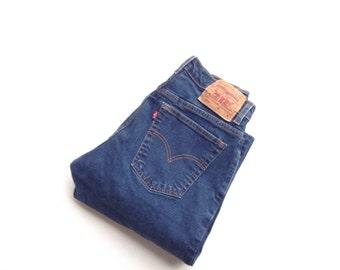 Vintage levis 550 jeans natural dark wash, highwaisted cotton jeans. W28 L29
