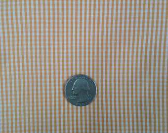 3 Yards Polyester and Cotton Orange gingham Fabric