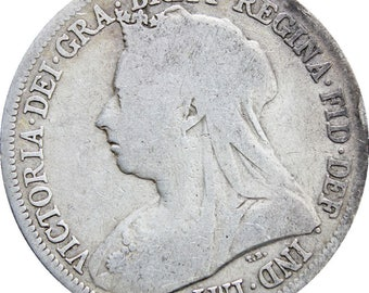 1899 Shilling Victoria Queen Great Britain Silver British Coin