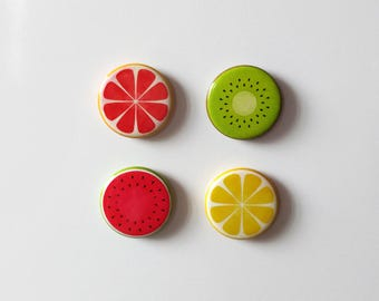 Fridge Magnets, refrigerator, locker magnets, fruits, lemon, grapefruit, watermelon, kiwi, summer