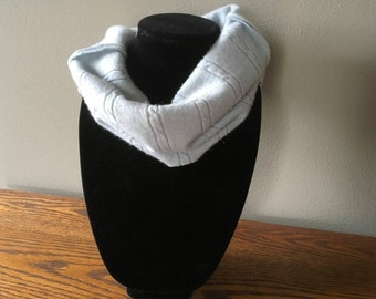 Baby blue upcycled   cashmere cowl. Felted cashmere neck warmer. #10