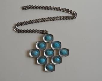 Jorgen Jensen pewter pendant necklace
