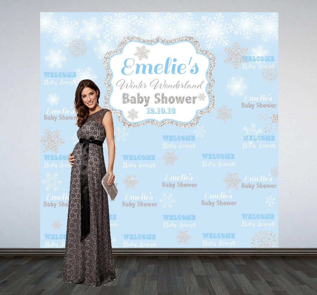 Winter Wonderland Baby Shower Backdrop Photo Booth Backdrop