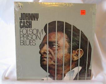 Johnny Cash Folsom Prison Blues Record LP Album