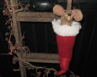 Christmas - Mouse - Holiday - Seasonal - Santa Hat