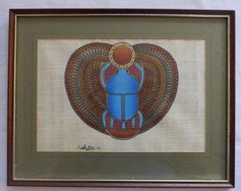 Egyptian Scarab Beetle - Papyrus