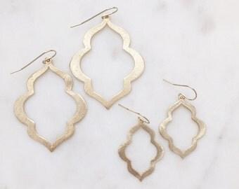 RIVER | Gold Moroccan Earrings | Gold Boho Earrings | Gold Statement Earrings | Brushed Gold Moroccan Earrings | Gold Bohemian Earrings