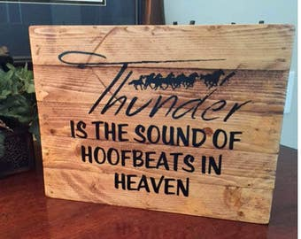 Thunder is the Sound of Hoofbeats