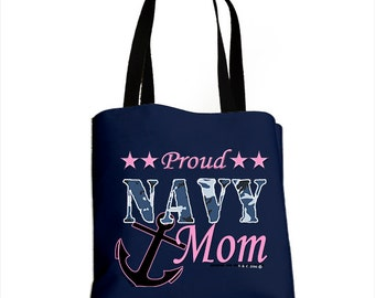 Proud Navy Mom All-Over Bag (Made in the USA)