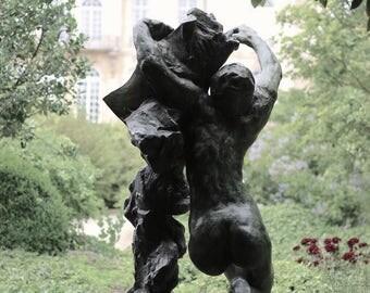 Sculpture in Garden, Fine Art Print, Musée du Rodin, Paris Print, Large Wall Art