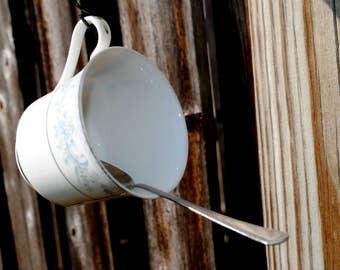 Tea Cup Bird Feeder - Double Hanging Suet Tea Cup Feeder