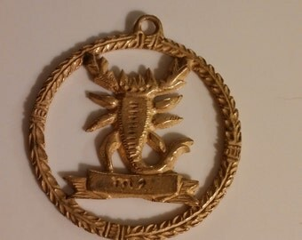 scorpion thepookiesjewelrybox gold jewelry medallion by vintage scorpio charm pin